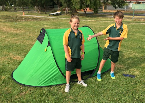 Pictured: Ryan & Jack with their fabulous tent